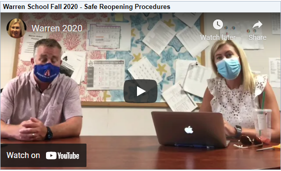 Video of Warren Administration Talking about School Safety in the midst of the pandemic