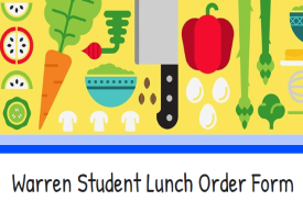 Warren School Lunch Form with fruit at top of Form